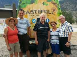 Tastefull Excursions tour group on a Kamloops Thompson Shuswap wine tasting tour